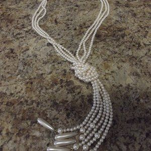 Liz Claiborne Fashion Pearl Knotted Necklace